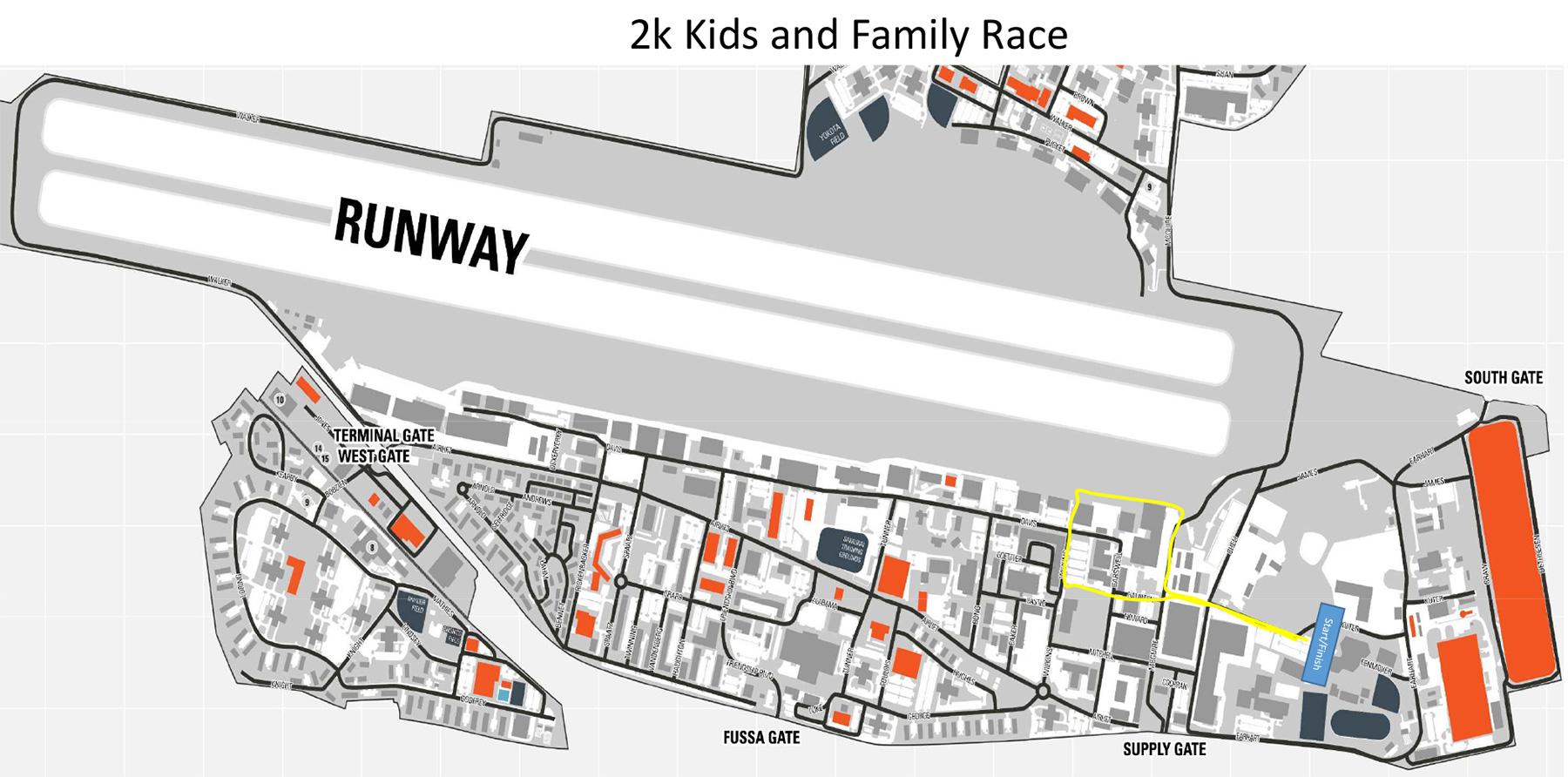 2kmキッズラン・ファミリーマラソンコースマップ